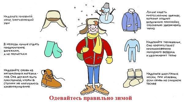 Одевайтесь правильно зимой