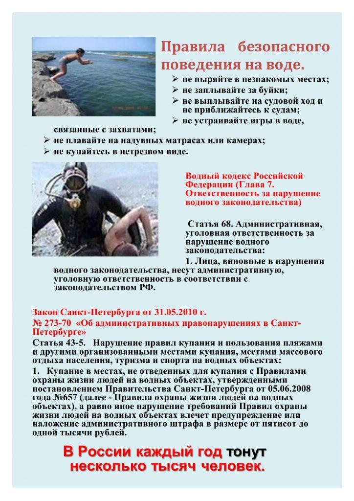 памятка безопасная вода_1